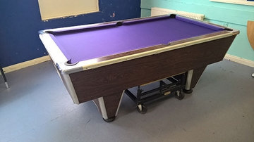 7ft pool table recover purple cloth kendal