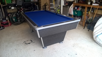 7ft black pool table