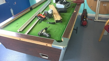 7ft pool table before recover