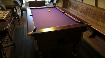 6ft pool table recover purple cloth