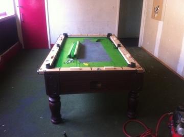 7ft pool table before refurbish middlesborough