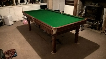 7ft snooker table recover todmorden
