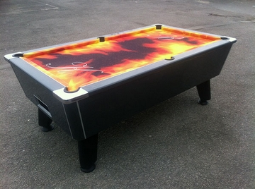 7ft Carbon Gloss Pool Table