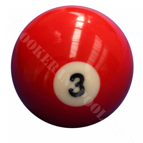 Single Number 3 Pool Ball | snookerandpool.co.uk on