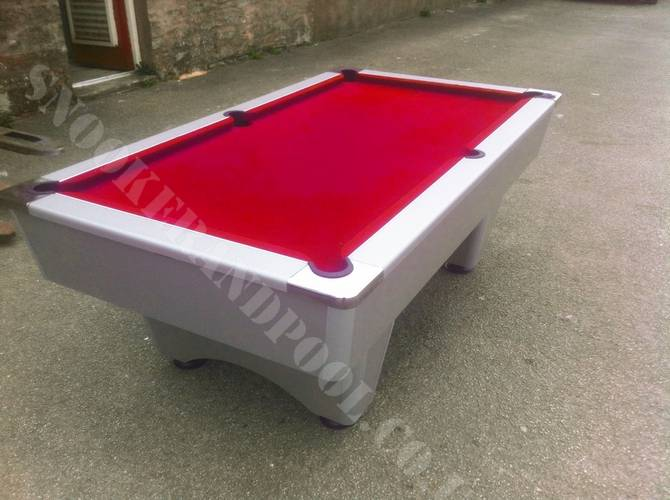 7ft Silver Grey Slate Bed Pool Table