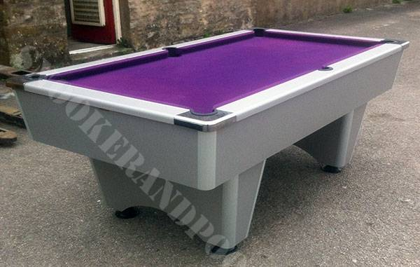 Superbe 7ft Silver Grey Slate Bed Pool Table