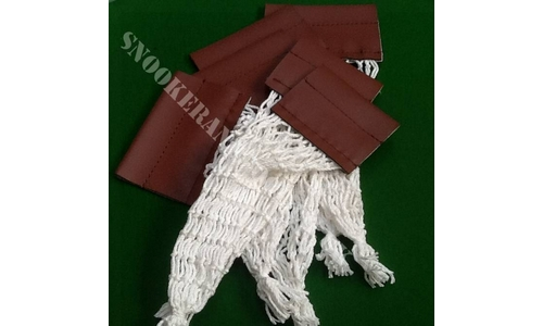Snooker Pocket Bag Nets with Leatherette