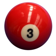 Single Number 3 Pool Ball