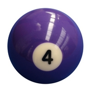 Single Number 4 Pool Ball