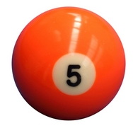 Single Number 5 Pool Ball