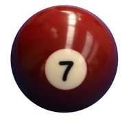 Single Number 7 Pool Ball