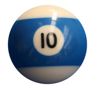 Single Number 10 Pool Ball