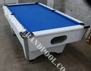 White 7ft Used Pool Table