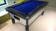 6ft Silver Black Pool Table