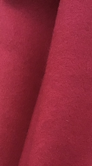 Cherry Red Top Quality Napped Cloth
