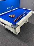 6ft White Slimline Pool Table
