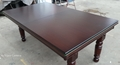 6ft Slate Bed Pool Table Diner Table